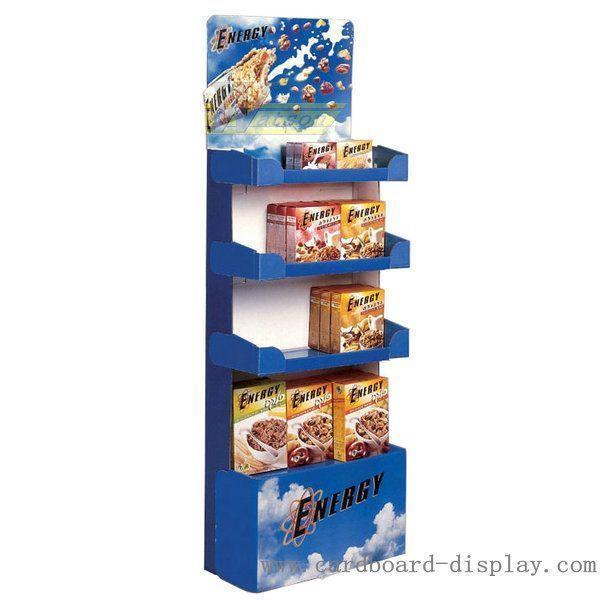 Cardboard Display Rack For Food Breakfast Oatmeal