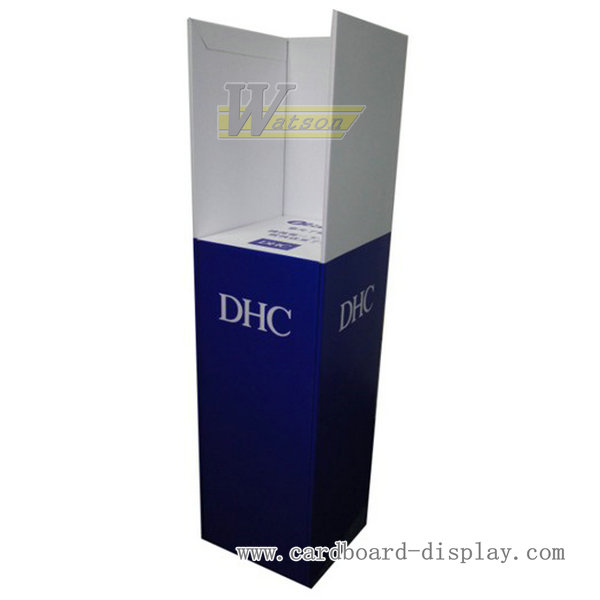 DHC cardboard cosmetic advertising magazine display