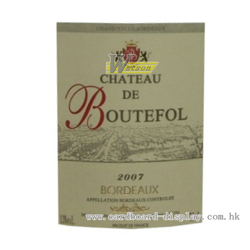 Europe red wine paper label