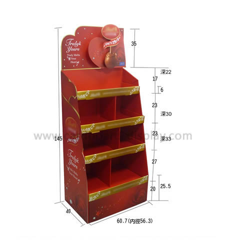 Christmas supermarket promotions chocolate candy and other floor display stand