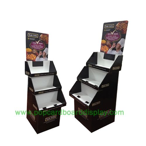 Cake promotional cardboard display stand
