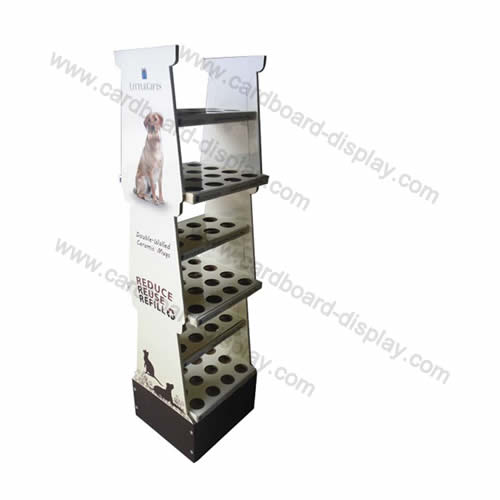 Foldable cardboard floor display rack pet food supplies