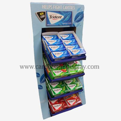 Trident Chewing gum paper display stand Paper shelves