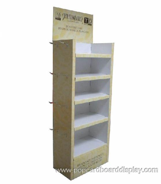 multi-function floor peg hook display rack