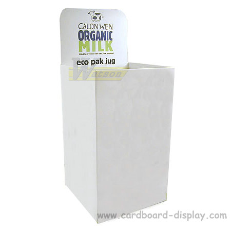 Cardboard display dump bin for milk