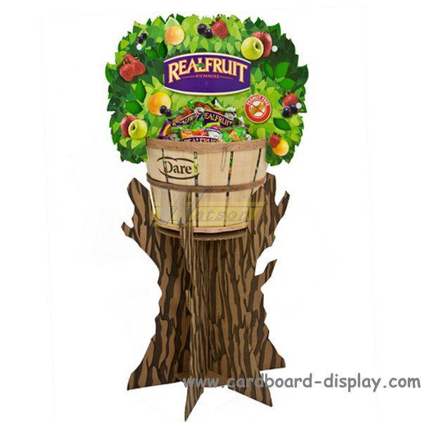 Fruit product cardboard dump bin display