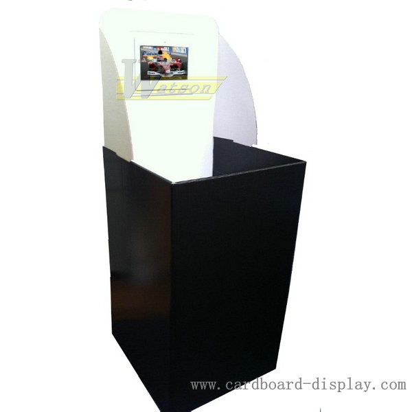 Corrugated paper Display dump bin for food