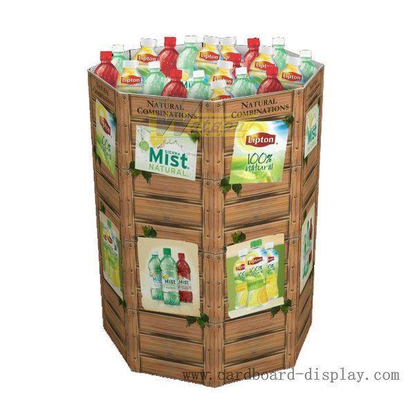 Drinks Corrugated display dump bin for promotion