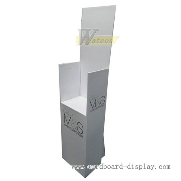 Magazine corrugated paper display rack for promotion
