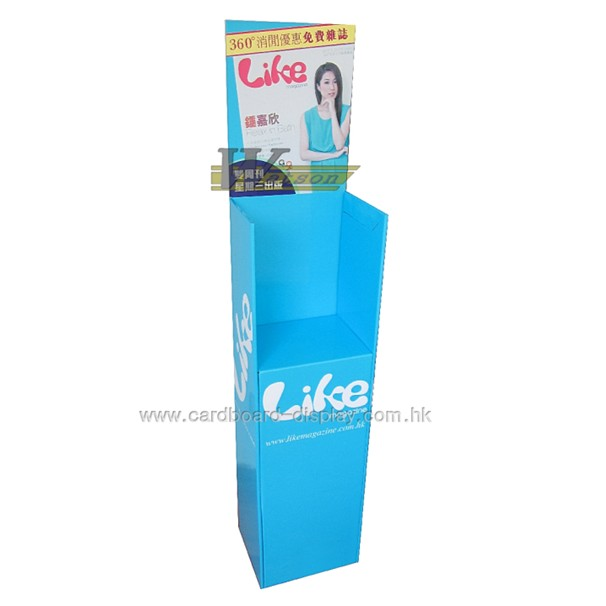 Corrugated cardboard magazine display stand