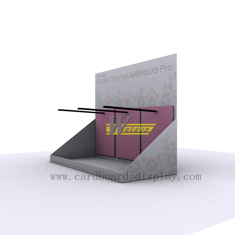 Corrugated paper counter top display for sponge