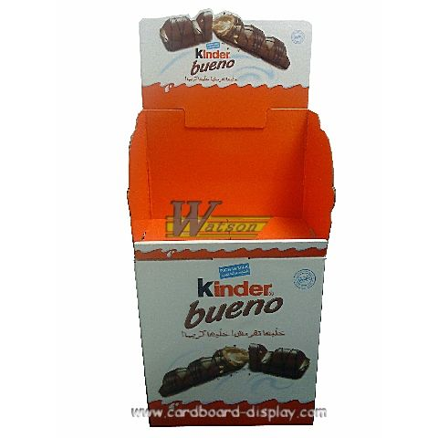 Cardboard Promotional Dump Bin For Kinder Chocolate