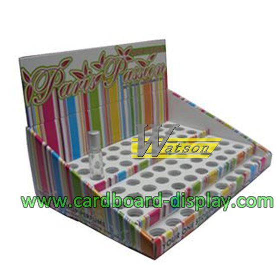 colorful printing cardboard table showing display box