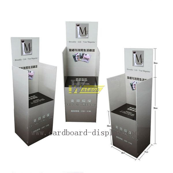 anniversary brochure cardboard magazine floor display stand